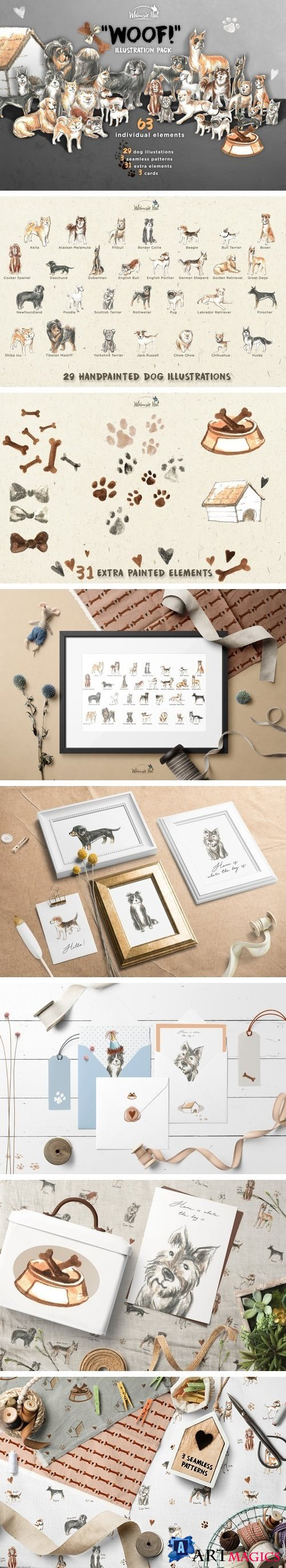 'Woof!' illustration pack - 2108491