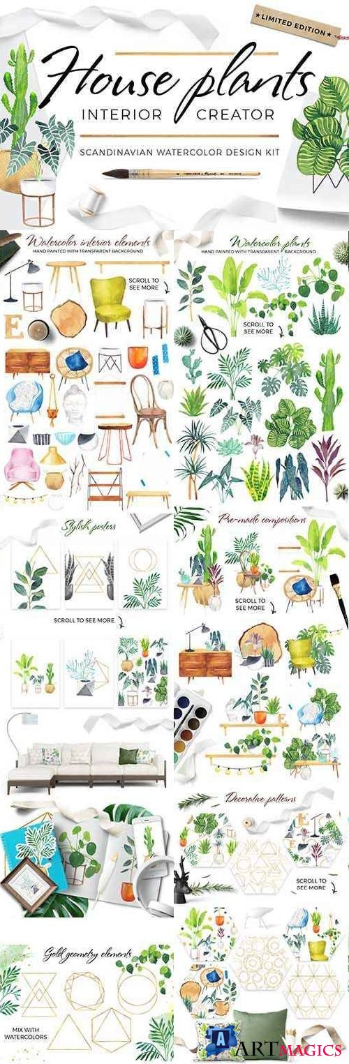 Scandi house plants interior creator - 2106279