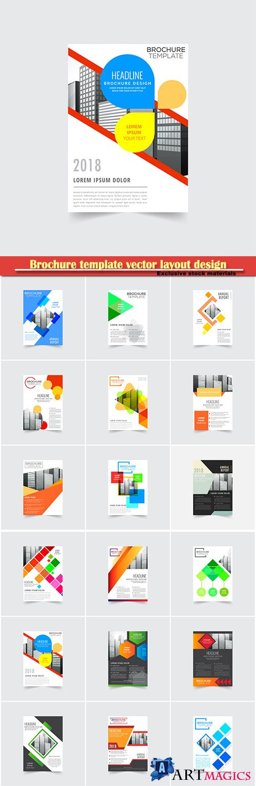 Brochure template vector layout design, corporate business annual report, magazine, flyer mockup # 121
