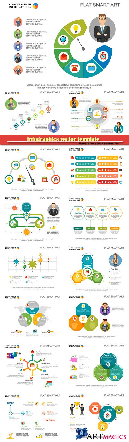 Infographics vector template for business presentations or information banner # 21