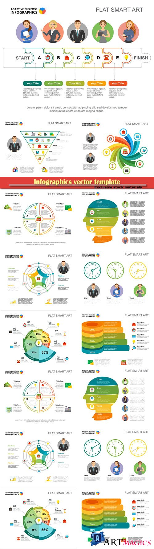 Infographics vector template for business presentations or information banner # 22