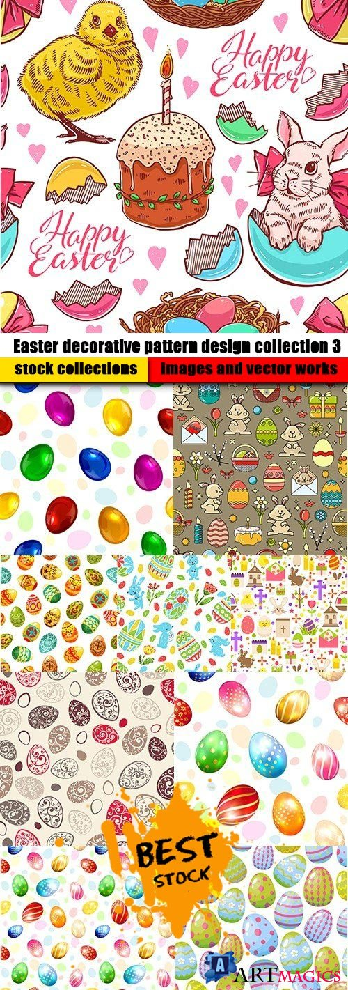 Easter decorative pattern design collection 3