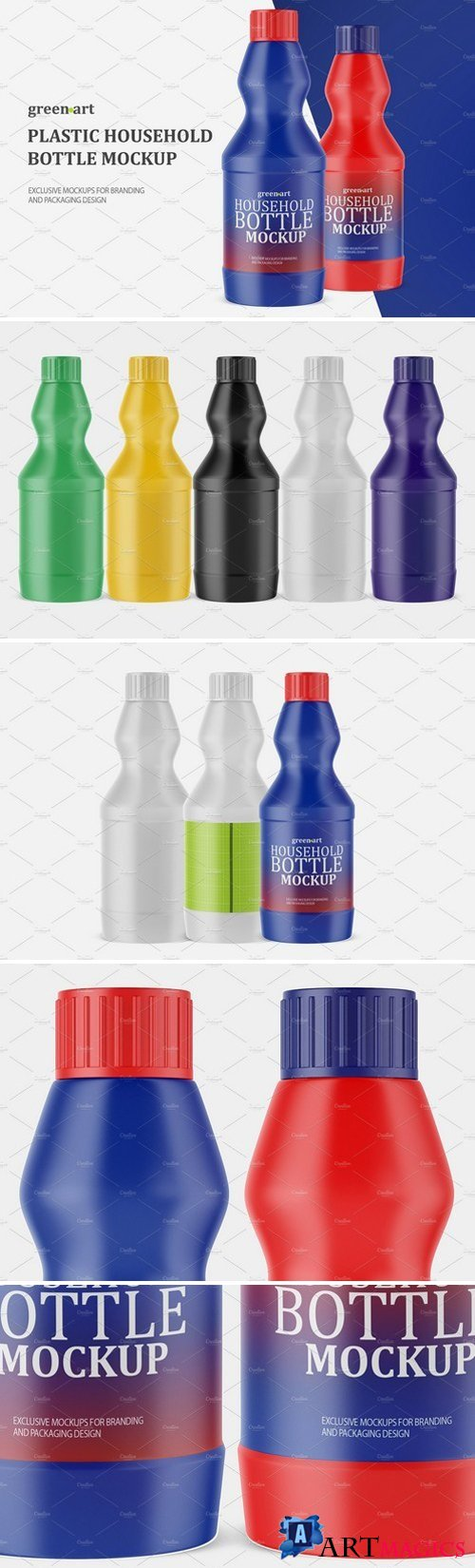 Household Bottle Mockup 2185096