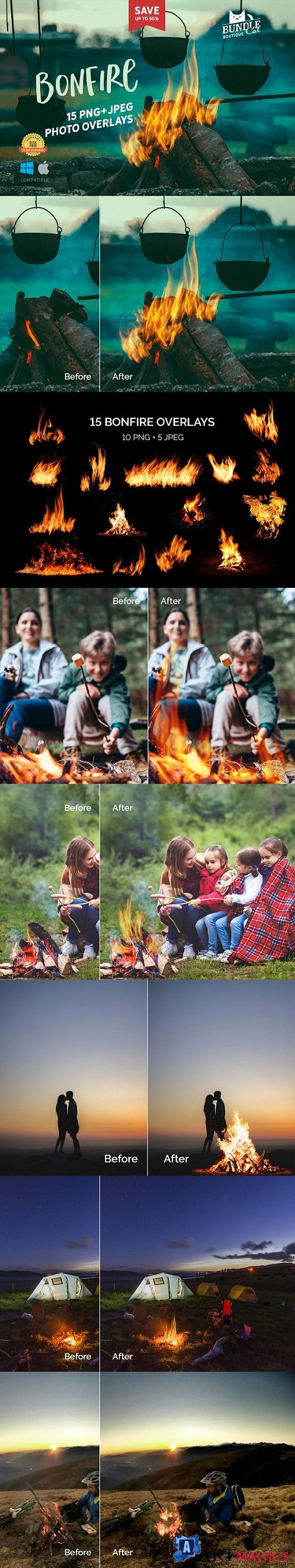 +15 Bonfire Photo Overlays - 2250655