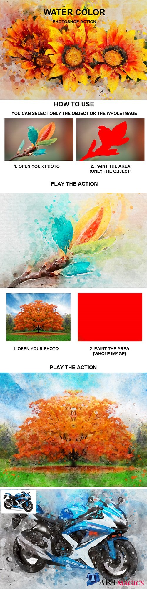 Water Color Photoshop Action 21335893