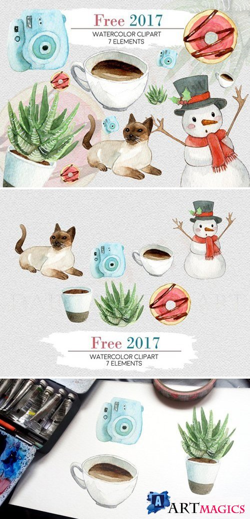 Watercolor Free 2017 Clipart 2167689