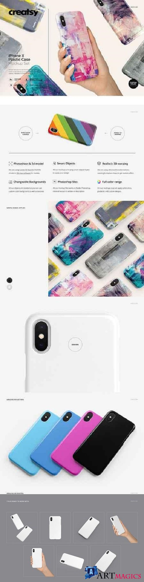 iPhone X Plastic Case Mockup Set 2115910
