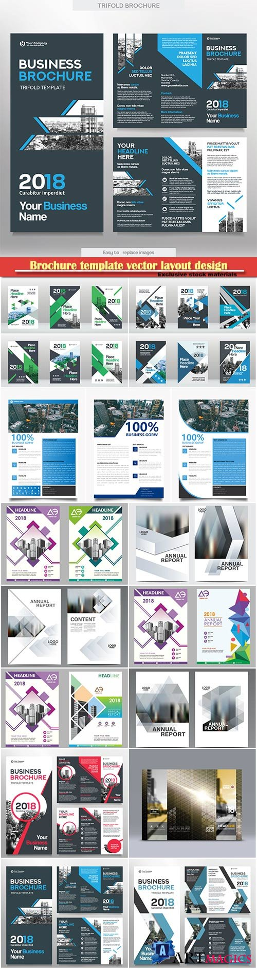 Brochure template vector layout design, corporate business annual report, magazine, flyer mockup # 125
