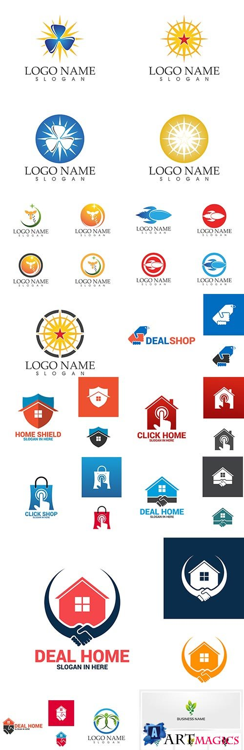 Creative business logos corporate company design 54