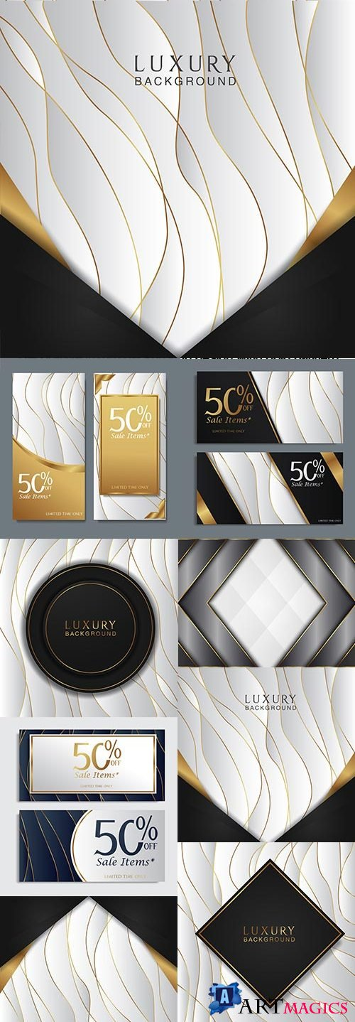Decorative luxury background design with gold pattern