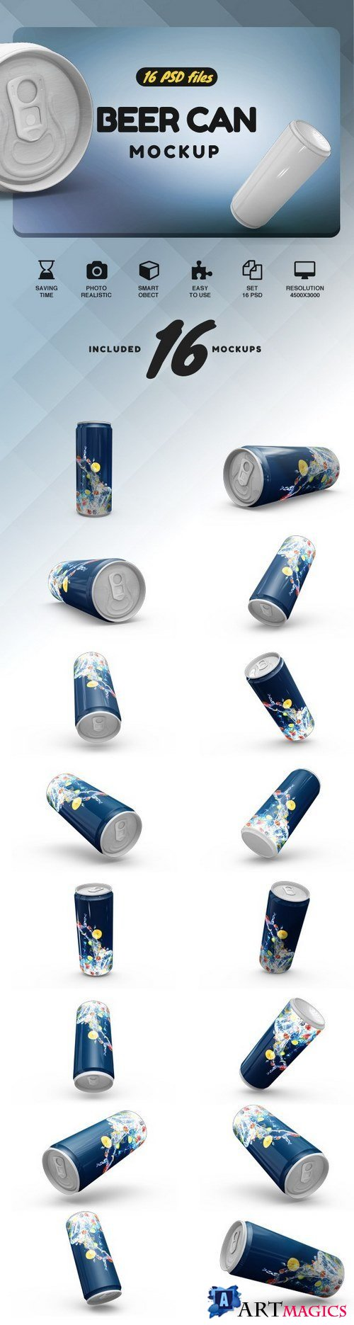 Beer Can Mock-up - 2085774