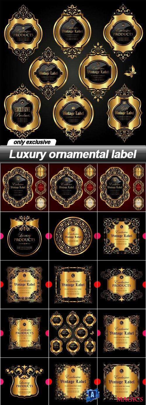 Luxury ornamental label - 18 EPS