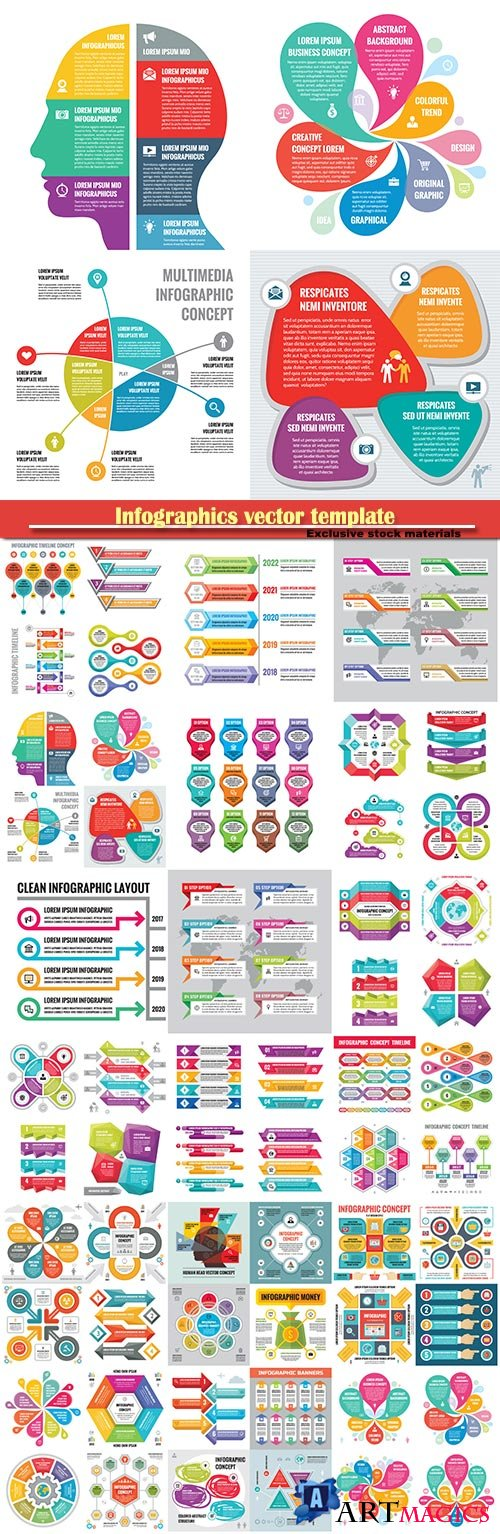 Infographics vector template for business presentations or information banner # 25