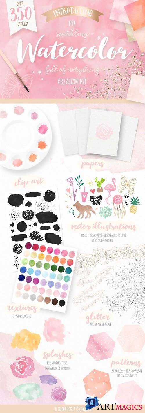 Watercolor Textures Creation Kit 1863888