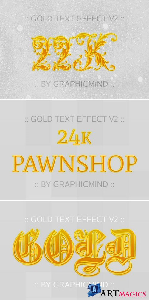 Gold Text Effects V2 2227782