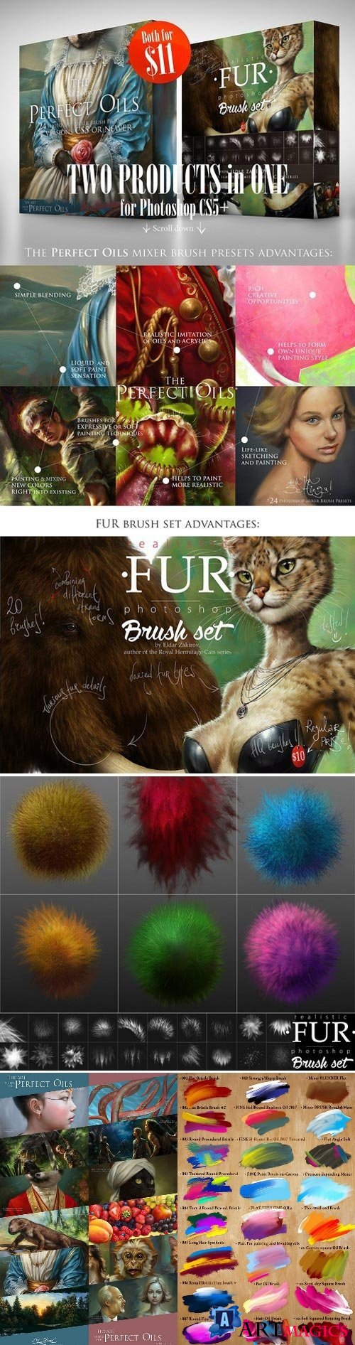 2 in 1: Prefect Oils & FUR Brushsets 2227611