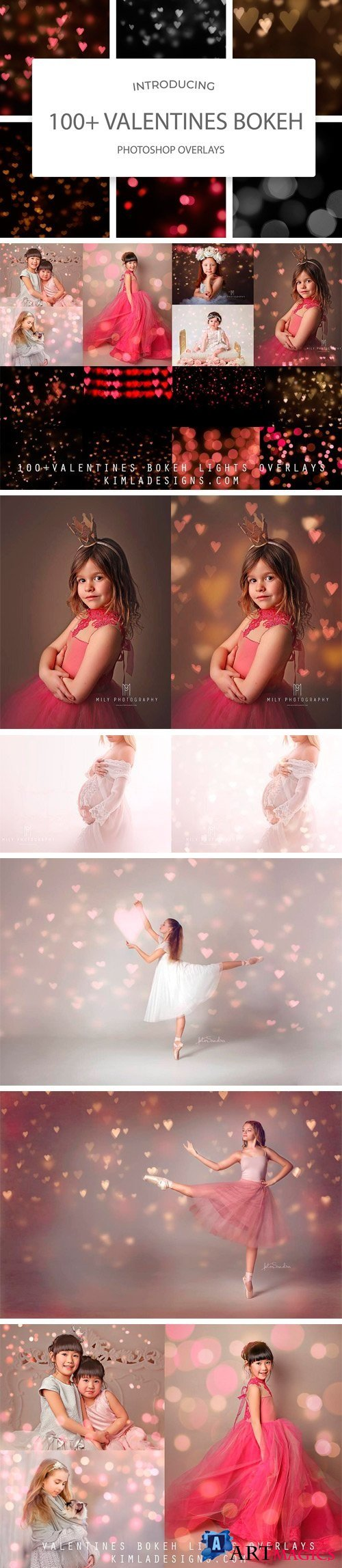 100 Valentines Bokeh Photo Overlays - 2266551