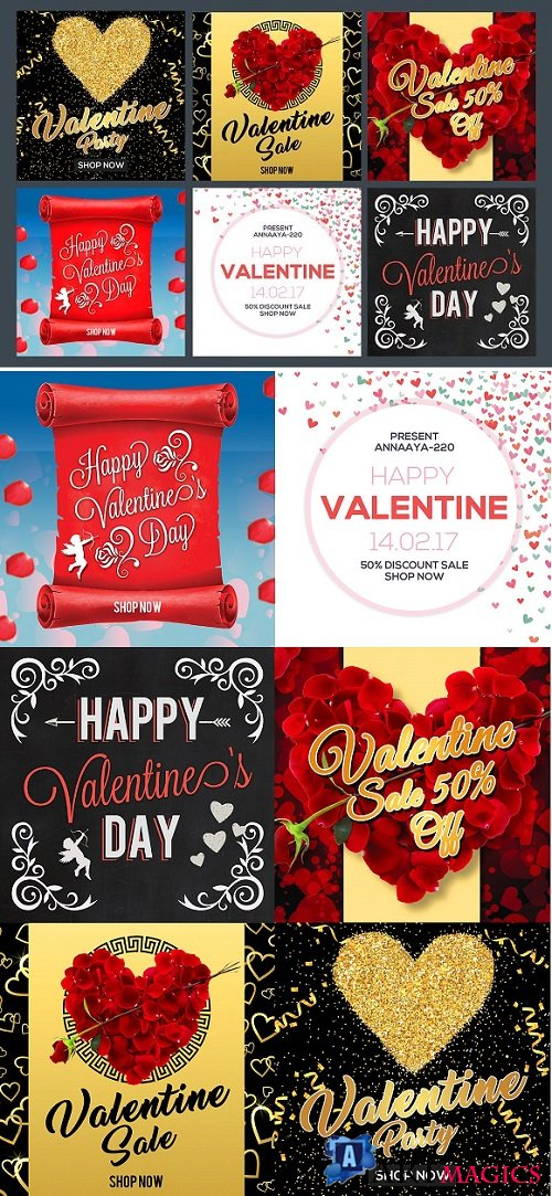Valentines Day Banner Set 2199522