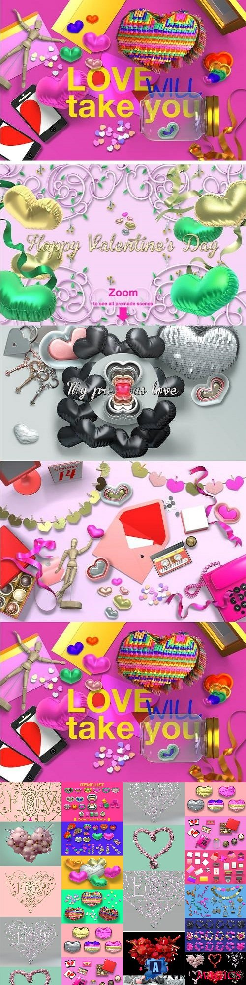 Super fancy Valentine's Day Pack - 2278661 (Full Collection)