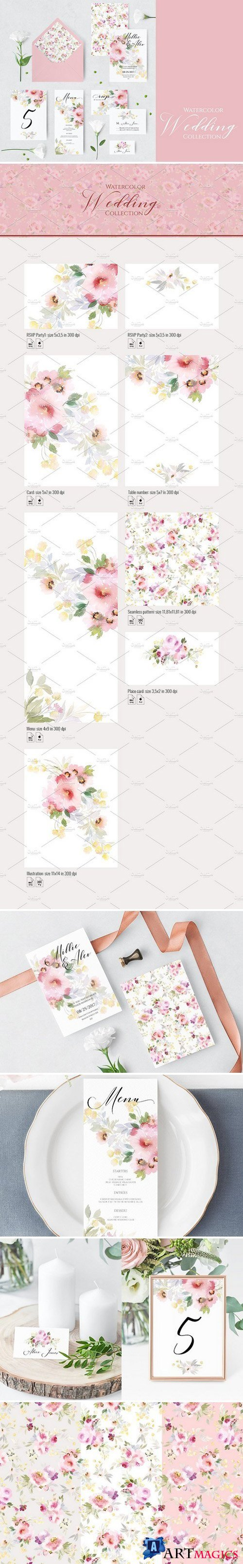 Floral wedding invitations 2223975