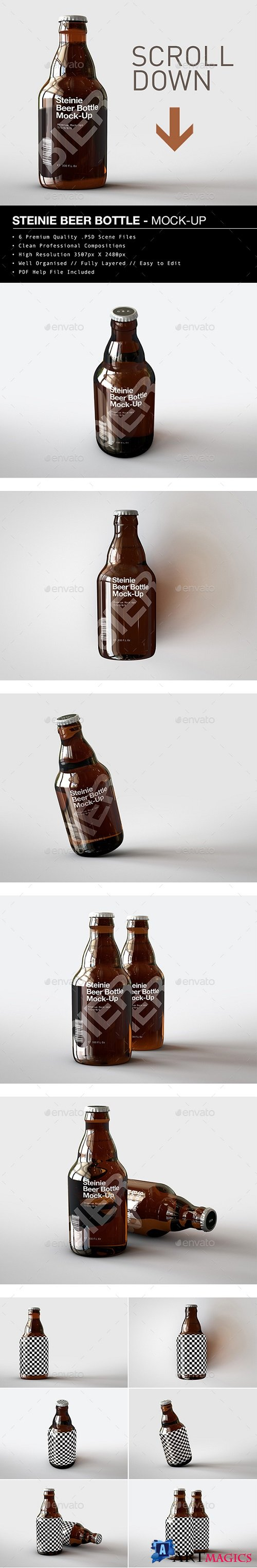 Beer Bottle Mock-Up | Steinie Edition 21402018