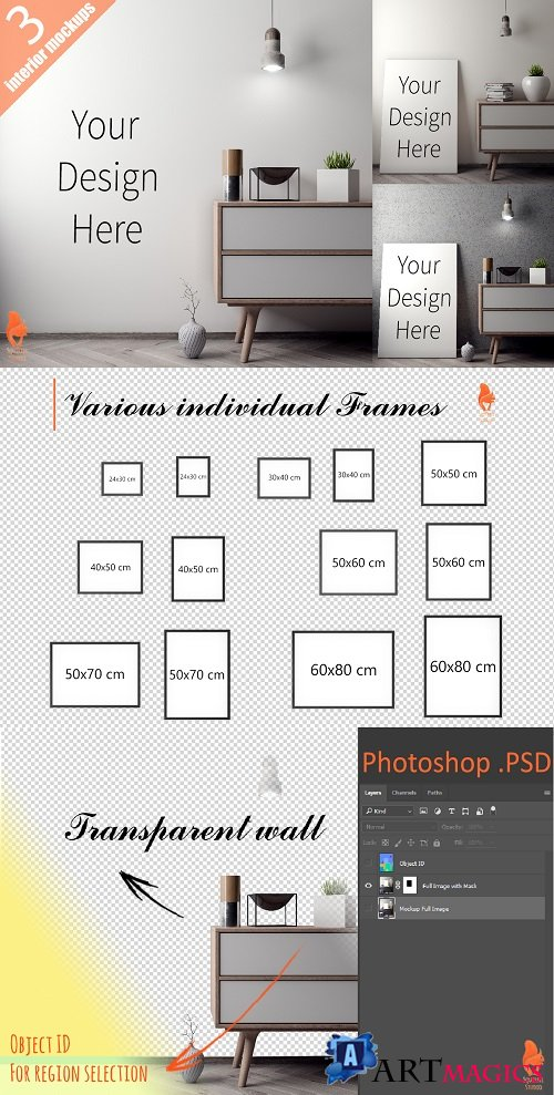 Mockup Poster with various frames 2228352