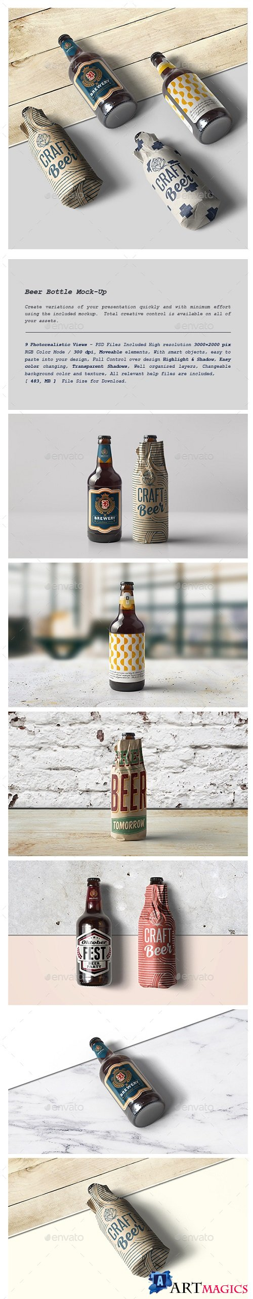 Beer Bottle Mock-Up 21398869