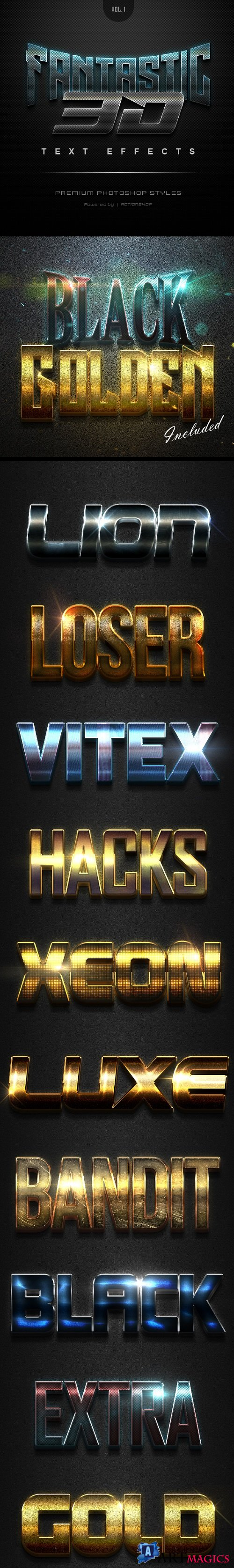 Fantastic 3D Text Effects Vol1 21372969
