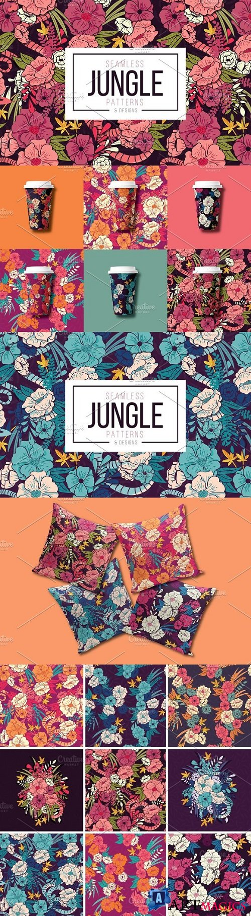 Jungle Floral Patterns & Designs 2231762