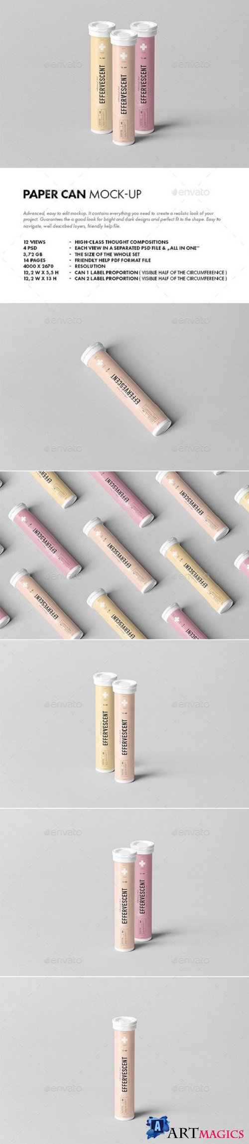 Effervescent Tablets Tube Mock-up - 21441844