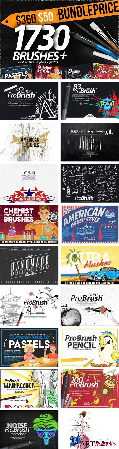 1730+ Brushes BIG BUNDLE 2079278