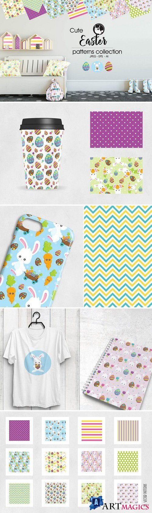 EASTER Pattern collection 2024402