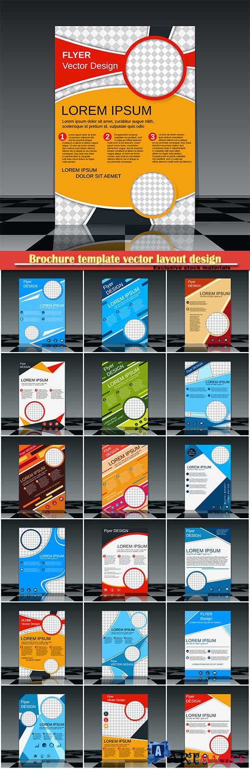 Brochure template vector layout design, corporate business annual report, magazine, flyer mockup # 139