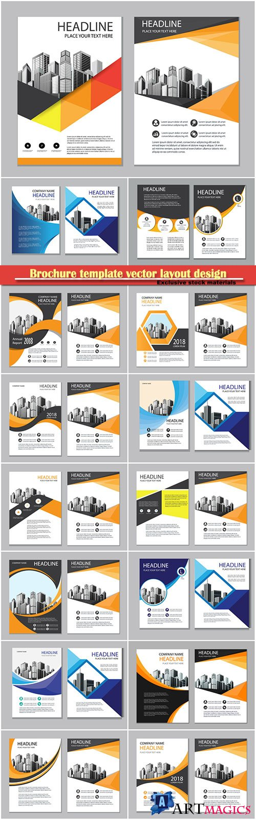 Brochure template vector layout design, corporate business annual report, magazine, flyer mockup # 135