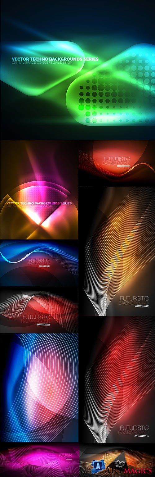 Modern abstract backgrounds decorative design 23