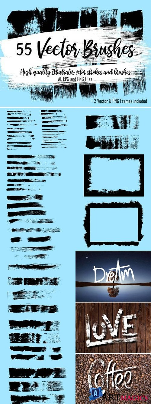 55 Vector Brushes 2321481