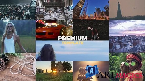 Multiframe Slideshow 60698 - Premiere Pro Templates