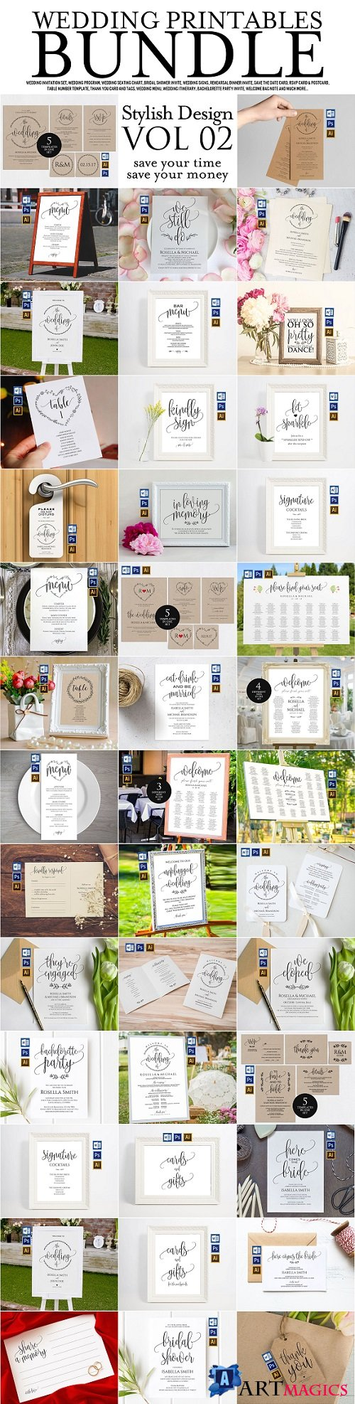 Wedding Printables Bundle Style 2 2295942