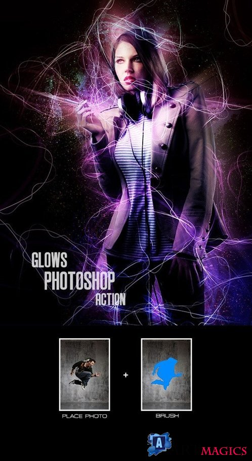 Glows - Photoshop Action