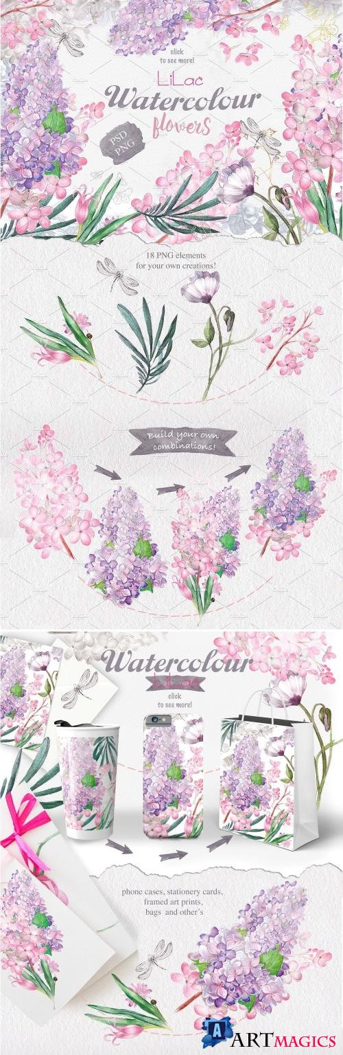 Watercolor lilac - 314068