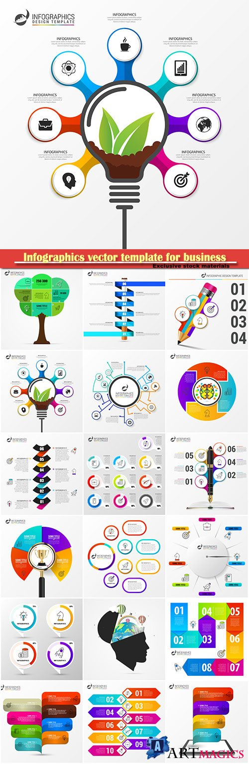 Infographics vector template for business presentations or information banner # 40