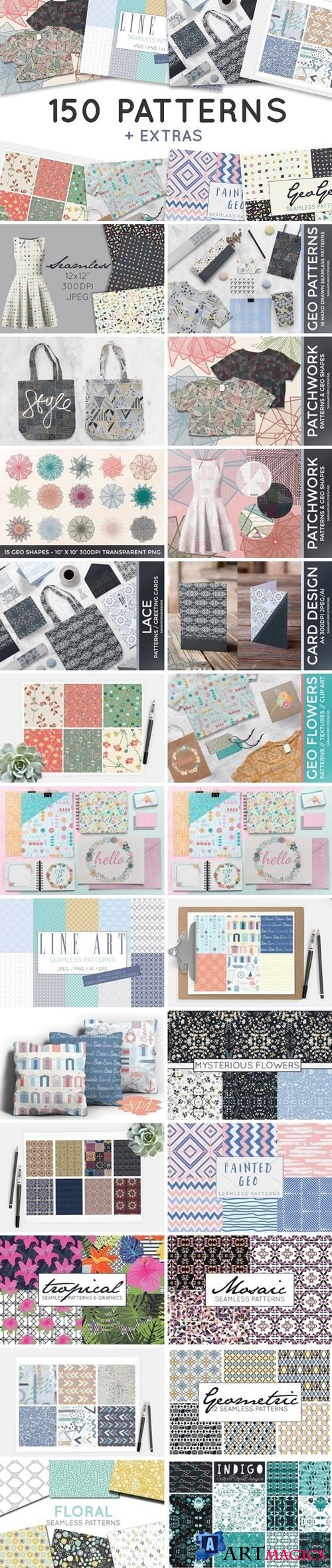 Pattern Bundle - Digital Paper 1459710