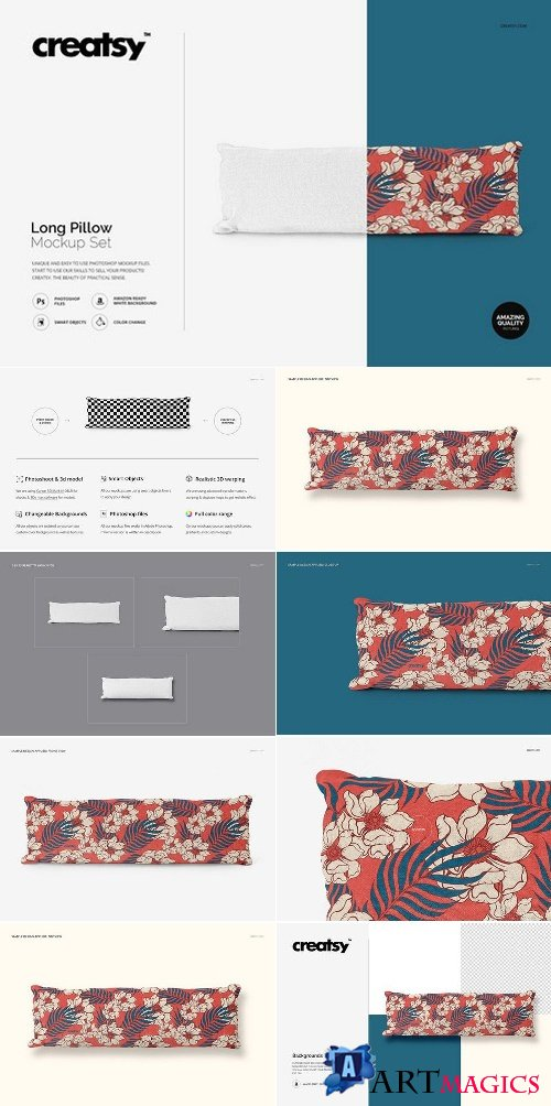 Long Pillow Mockup Set 2357467