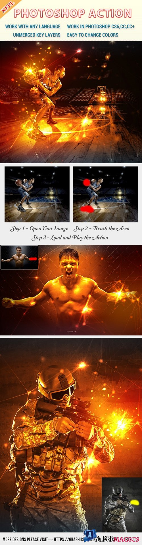Spark Facular Effect Photoshop Action 21629969