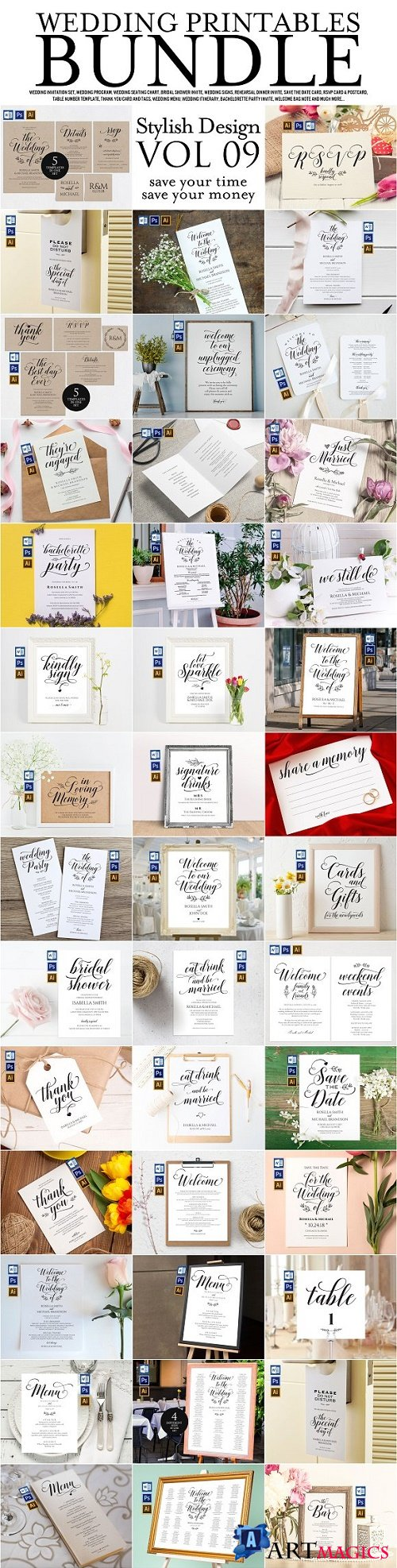 Wedding Printables Bundle Style. 9 2301925