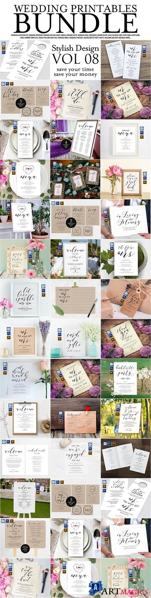 Wedding Printables Bundle Style. 8 2301453