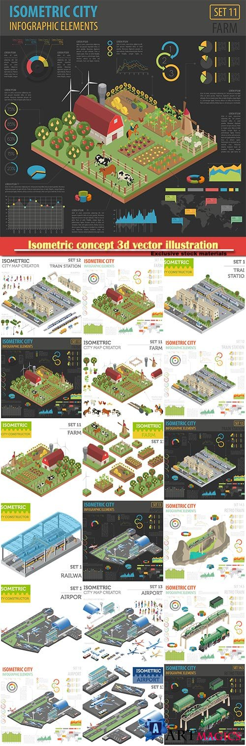 Isometric concept 3d vector illustration # 4