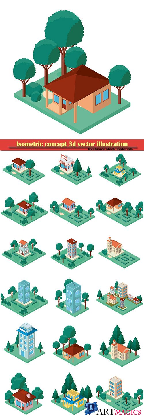 Isometric concept 3d vector illustration # 3