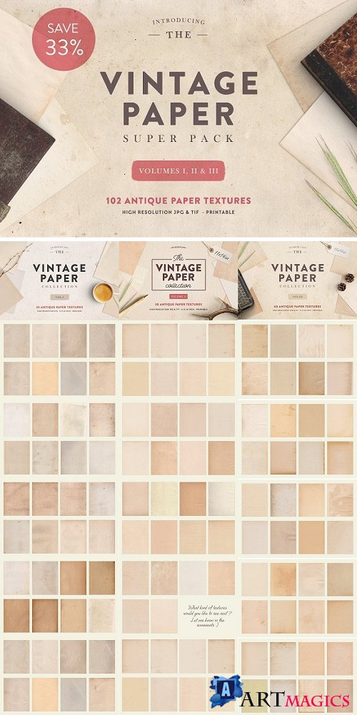 The Vintage Paper Super Pack - 1838958