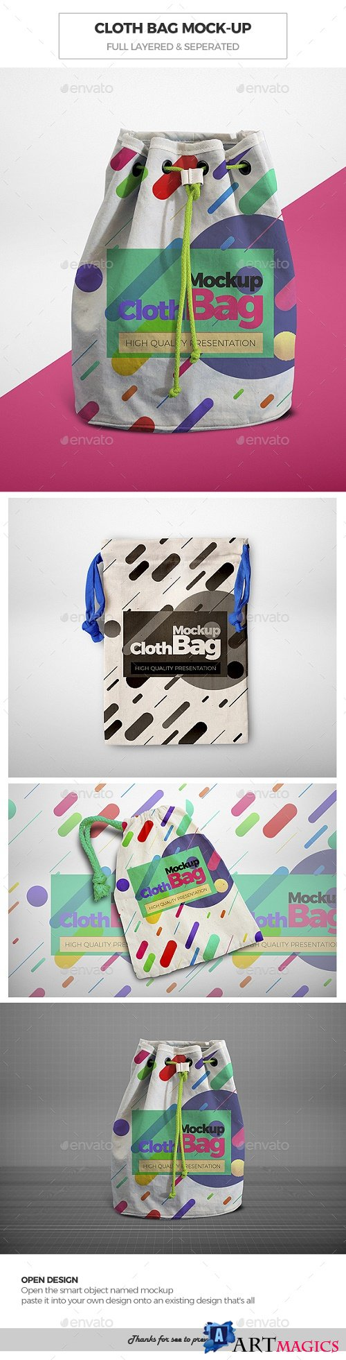Cloth Bag Mock-Ups 21674387